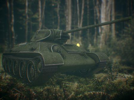 Low Poly Soviet Tank T-34 Game ready Soviet Tank T-34 Game ready