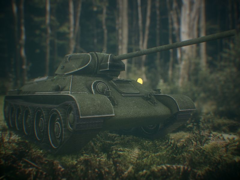 Low Poly Soviet Tank T-34 Game ready Soviet Tank T-34 Game ready