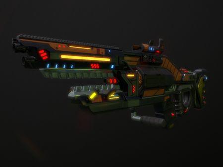 Hard surface - Gauss Rifle (FO4) - Shark Rifle