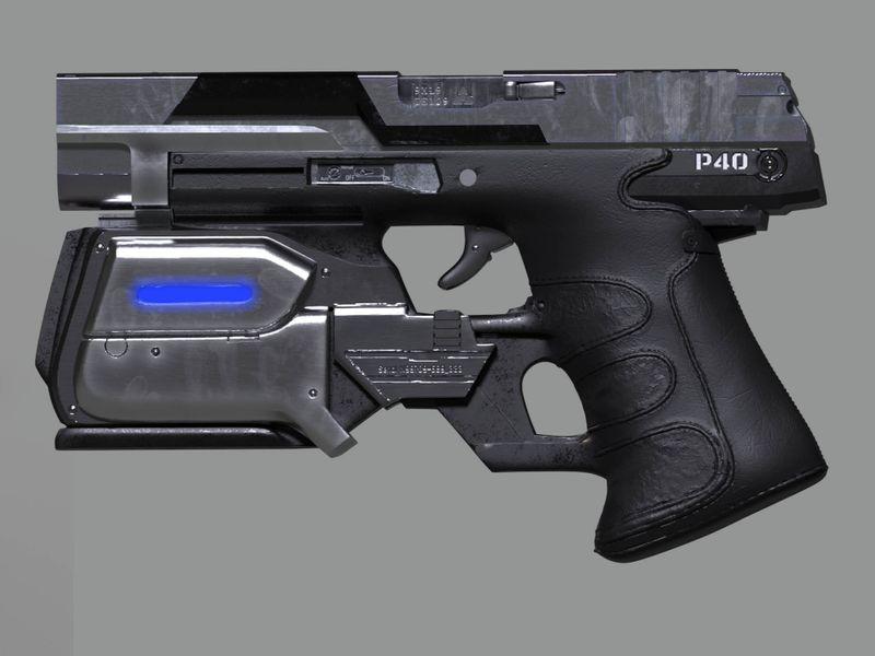 Sci-Fi Gun P40
