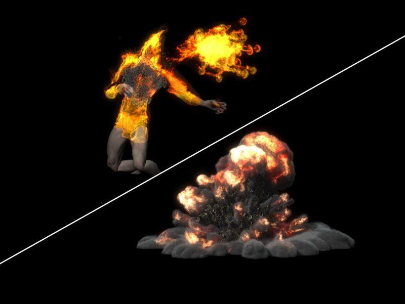 Burn and blast