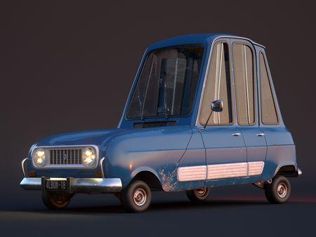 Stylized French car