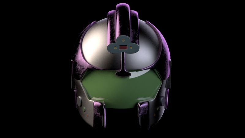 Stylized Space Helmet