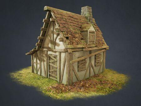 Medieval Abandoned Cabin