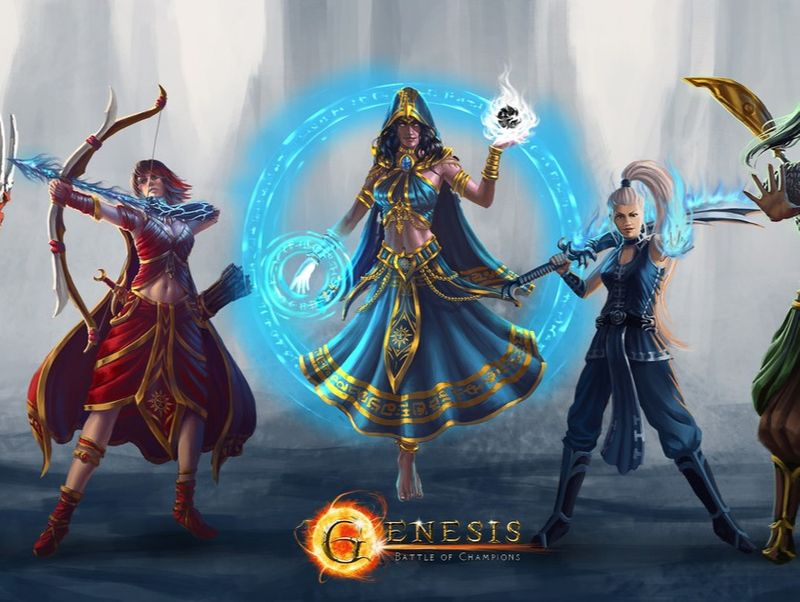 Character lineup for the Champions artworks done for Genesis Battle of Champions