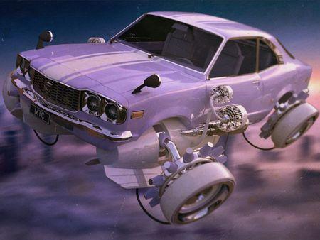Mazda RX3 Hover Car