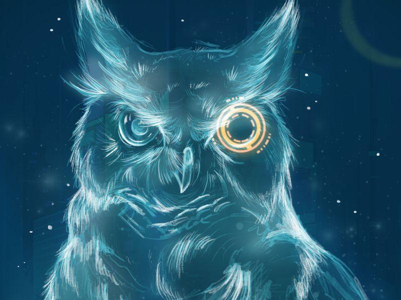 Hologram Owl
