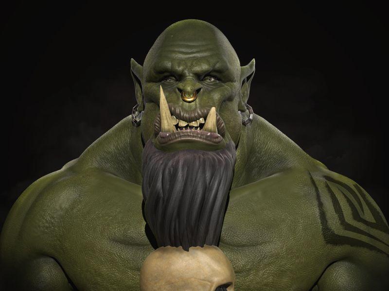 Orc head Portrait