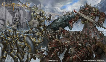 Great Sword Battle Illustration
