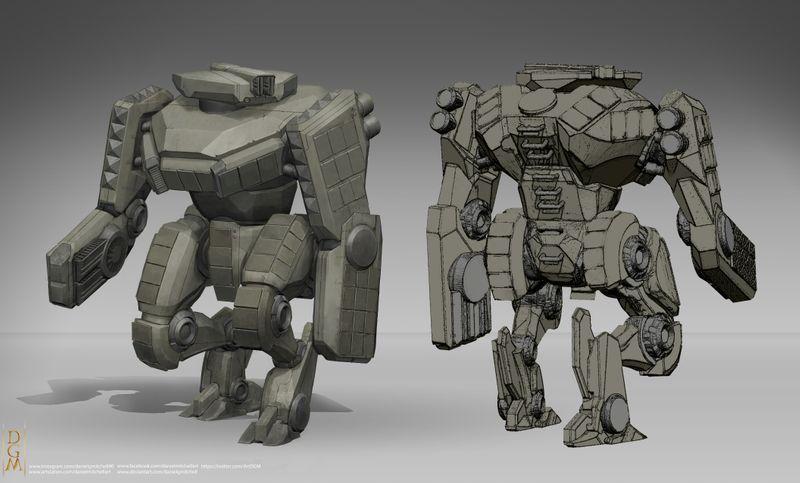Heavy Combat Mech Design