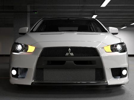 Automotive Rendering practice - Mitsubishi lancer Evo X