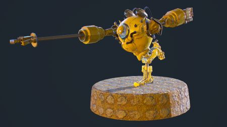 Blitzcrank, the Great Steam Golem, fan art.