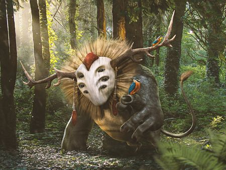 Ikahuatlanzi, a forest spirit