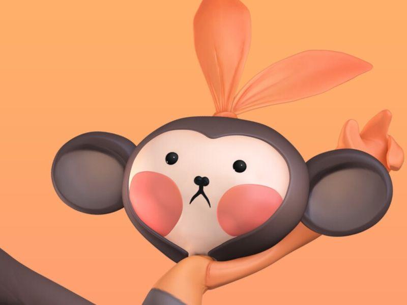 3D babymonkey
