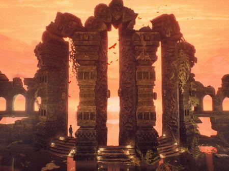 broken temple archway