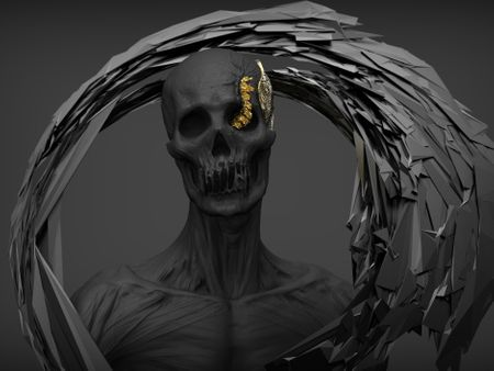 Skull Bust Sculpting study with Zbrush 2020