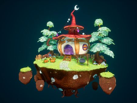 Stylized Witch Hut