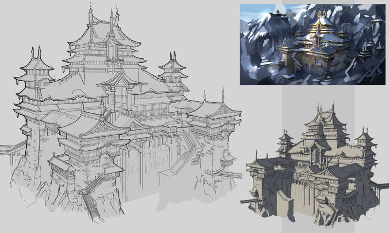 Asian Fantasy Architecture Design