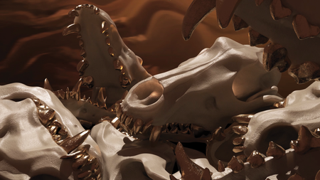 Le Chien - wolf skull /// gold teeth
