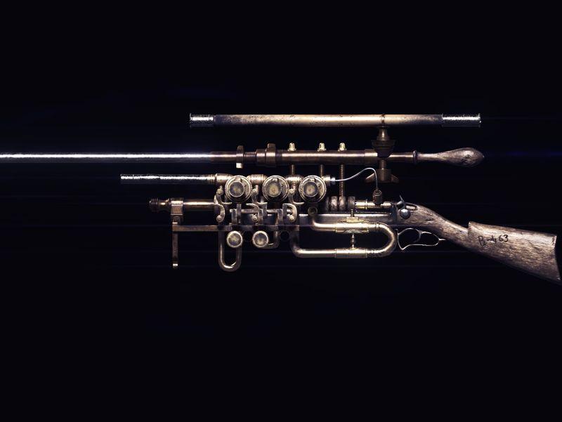 """Steampunk Gun """"Bs-463"""""""