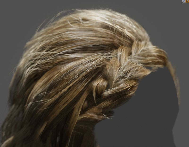 Real time hair in UE4