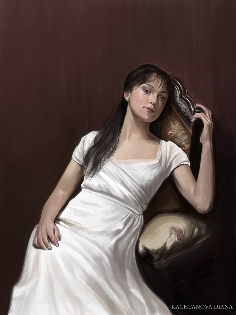 Keira Knightley. Portrait