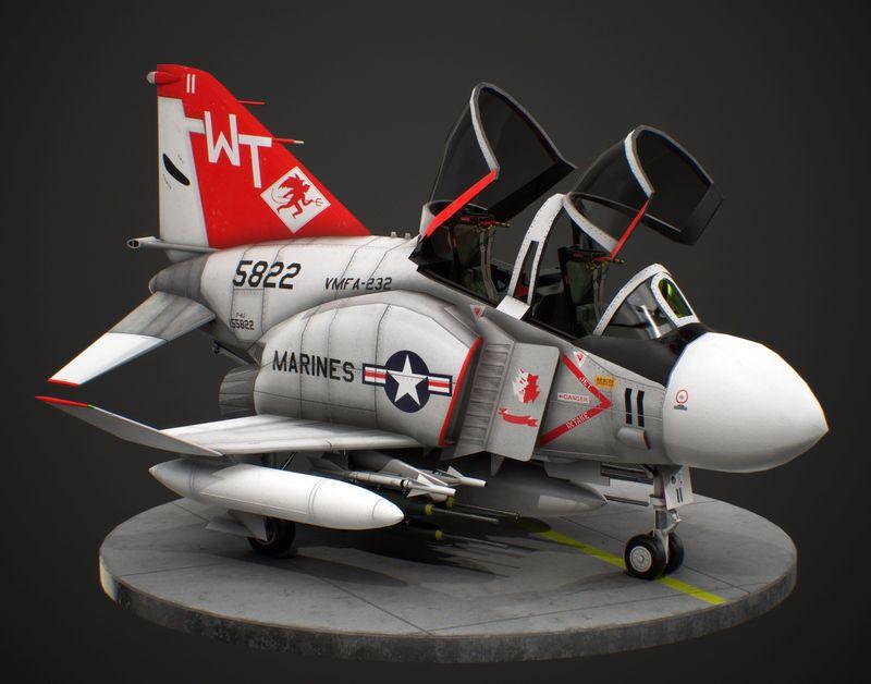 "McDonnell Douglas F-4J Phantom II VMFA-232 ""Red Devils"""