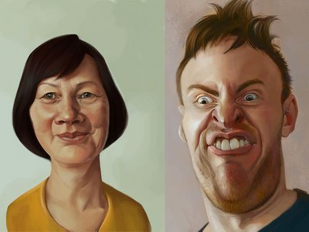 Caricature painting