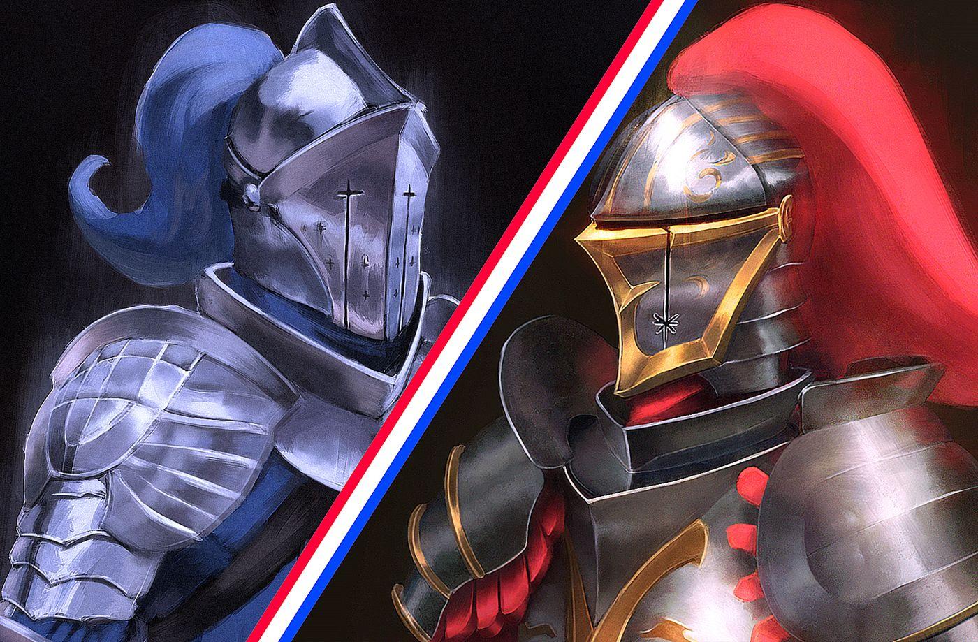 Knights, digital alla-prima style