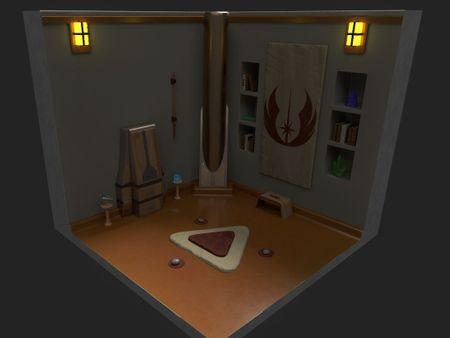 Isometric Room - Jedi meditation