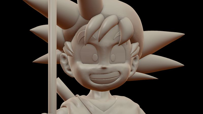Kid Goku Sculpture Fanart
