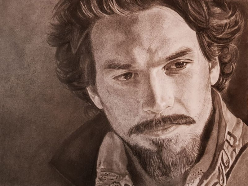 Aramis BBC Charcoal Portrait