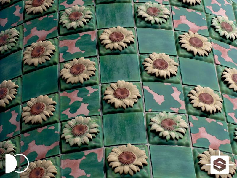 El Capricho - Sunflower Tiles - Substance Designer