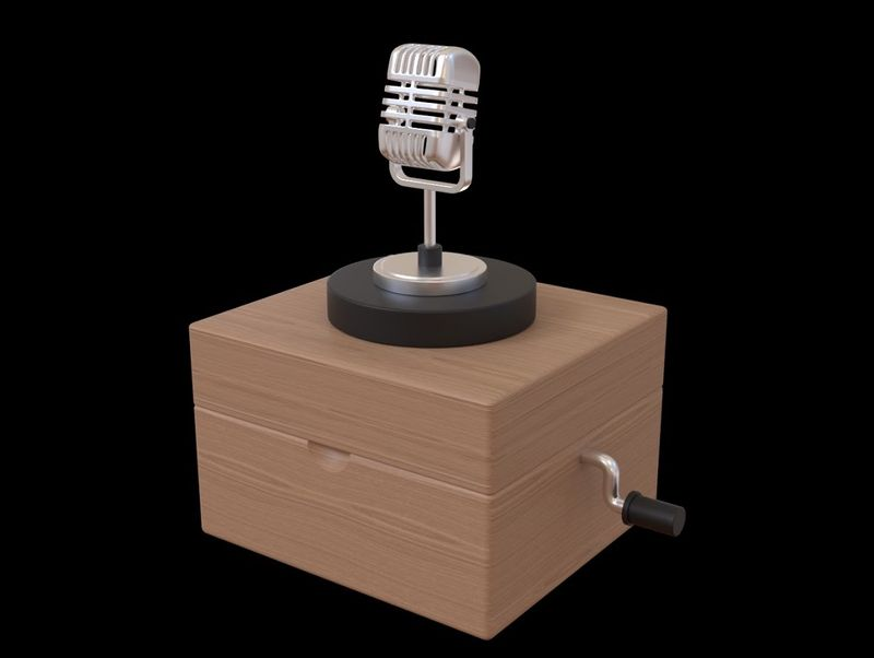 Mic Wooden Music Box