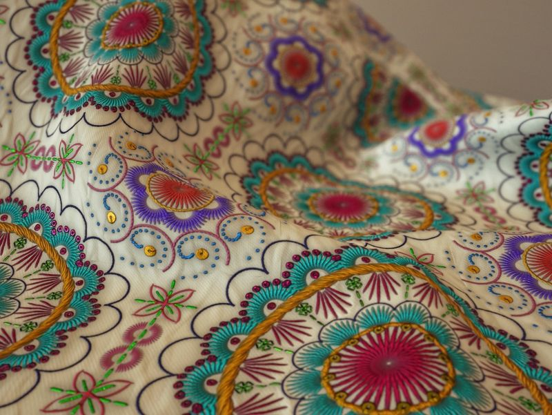 Embroidered Material