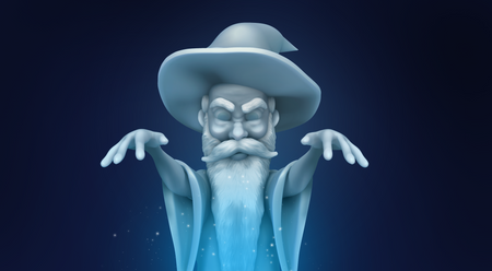 "Ice Wizard - ""Curse"" #Sculptober"