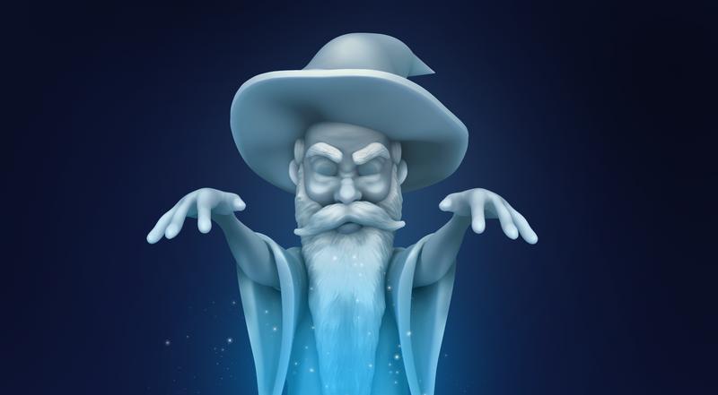 """Ice Wizard - """"Curse"""" #Sculptober"""