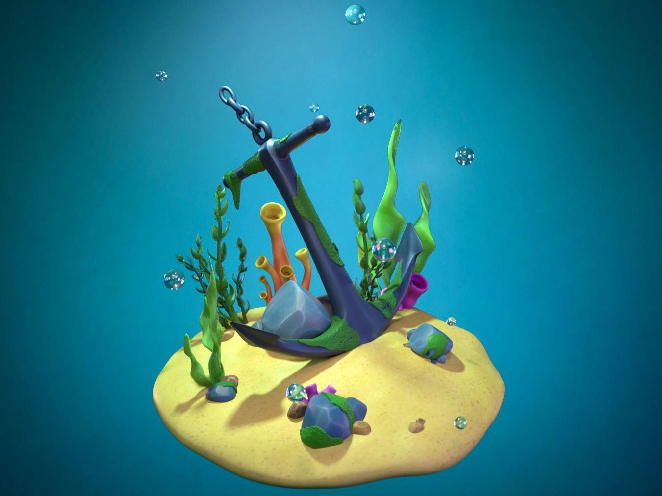 """Sculptober Day 14 - """"Sunk"""" ⚓️"""