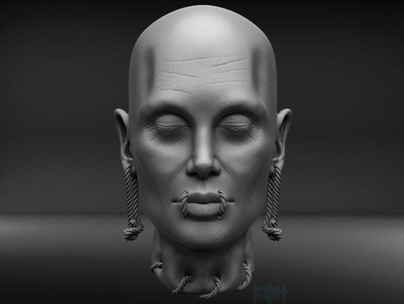 Angelina Jolie Shrunken Head