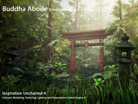 Budha Abode Game Environment Design