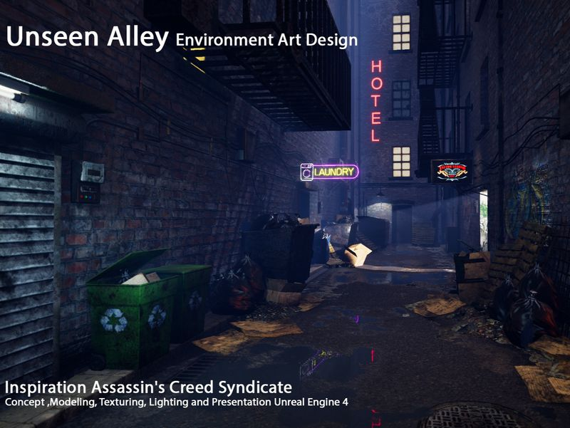 Unseen Alley - Game Environment Design