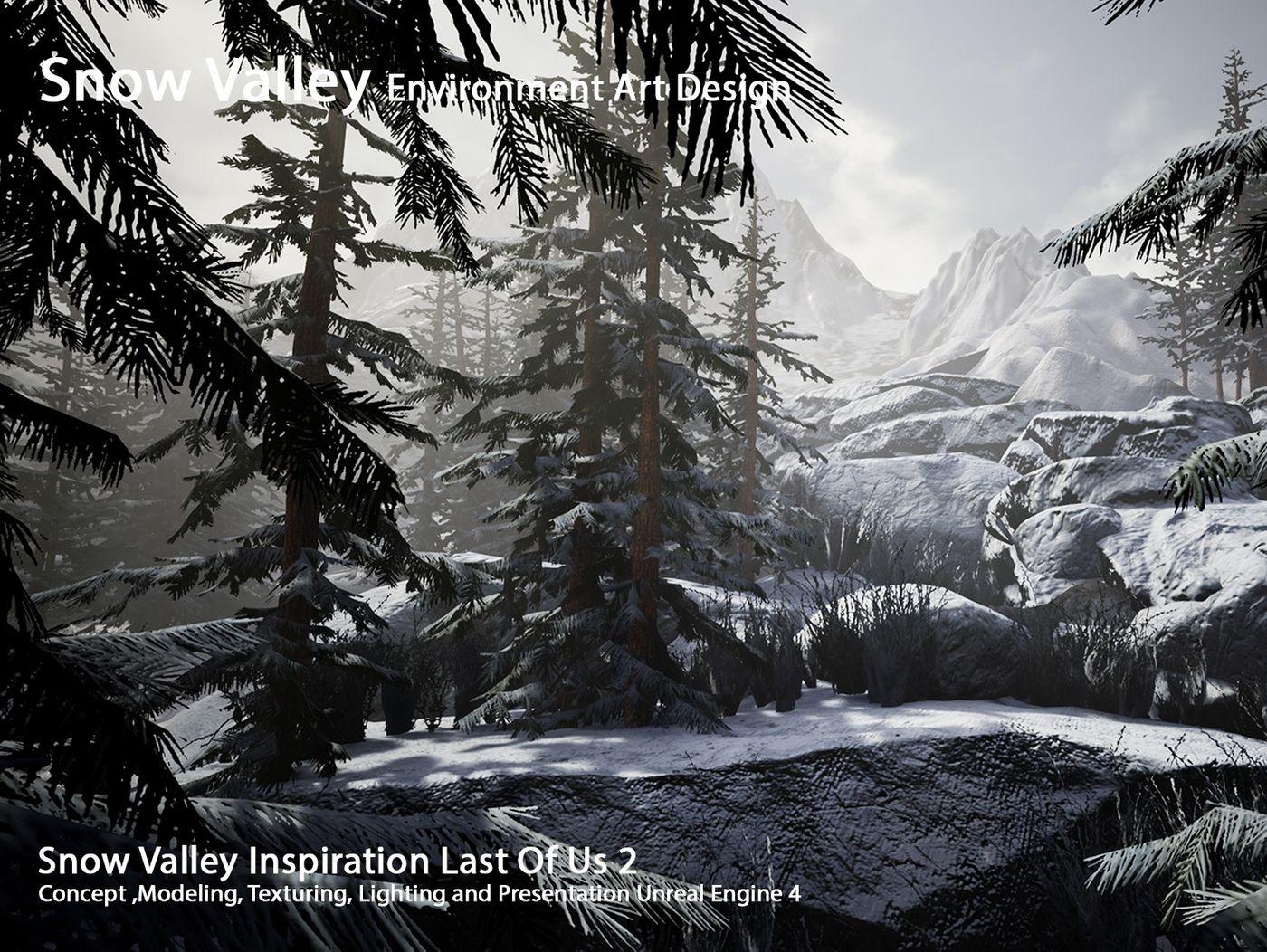 Snow Valley Environment Art Design