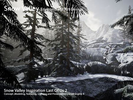 Snow Valley Environment Art Design