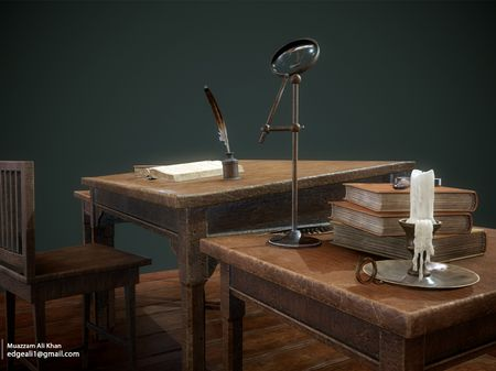 Harry Potter Hogwarts Classroom Professor Table - 3D Game Environment Props