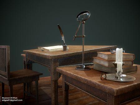 Harry Potter Hogwarts Classroom Professor Table - 3D Game Environment Props