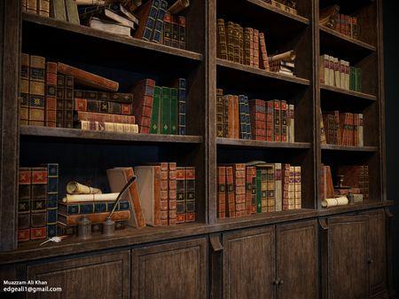 Harry Potter Hogwarts Classroom Bookshelf And Books - 3D Game Environment Props