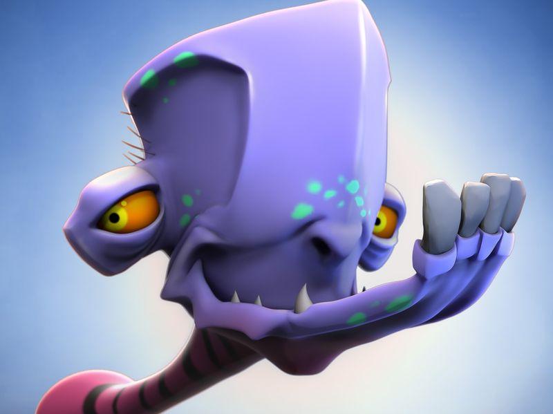 Alien with mandibular problem