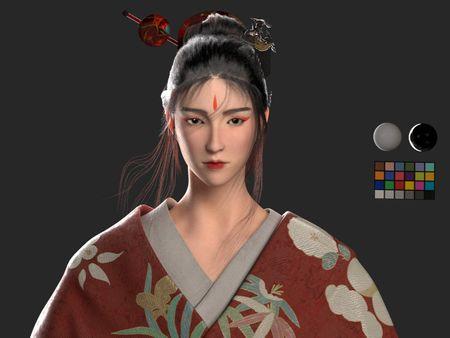 3D Character -  Oriental Girl
