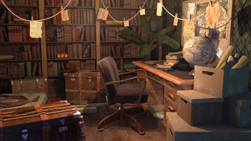 The Indiana Jones office