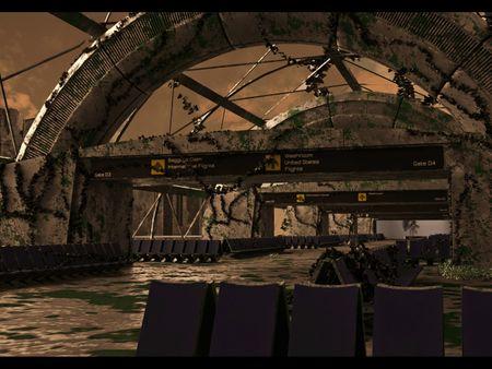 Abandoned futuristic airport